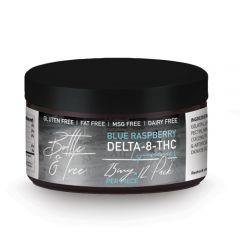 Delta 8 blue raspberry THC gummy edibles