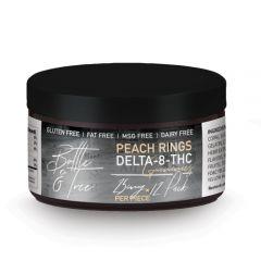 Delta-8 THC peach ring gummies by Bottle & Tree