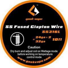 GeekVape - SS316L Fused Clapton Wire 24ga*2+32ga