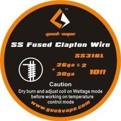 GeekVape - SS316L Fused Clapton Wire 26ga*2+30ga