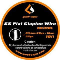 GeekVape - SS316L Flat Clapton Wire 26ga*18ga+32ga